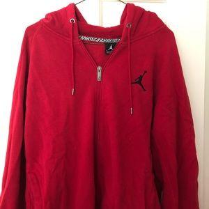 Jordan Brand red hooded sweatshirt full zip